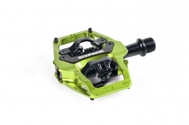 Pédales Sixpack-Racing Vertic (Q-Factor : 52.5mm) Couleur:Electric Green