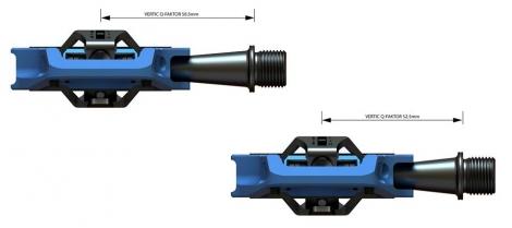 Pédales Sixpack-Racing Vertic (Q-Factor : 52.5mm) Couleur:Bleu