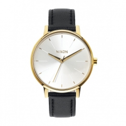 Montre Nixon Kensigton Leather - Gold / White / Black
