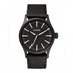 Montre Nixon Sentry 38 Leather - Black / White