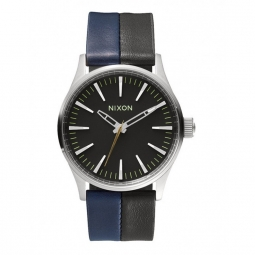 Montres Nixon Sentry 38 Leather - Black / Navy / Black