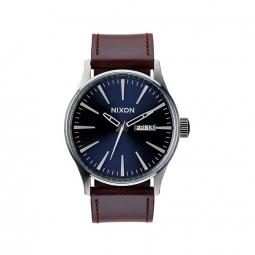 Montre Nixon Sentry Leather - Blue / Brown