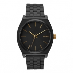 montre nixon time teller matte black gold