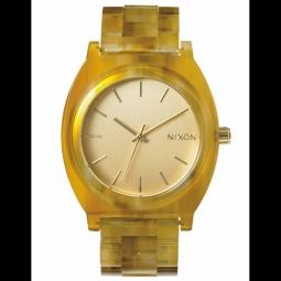 montre nixon time teller acetate champange gold amber