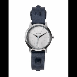 Montre Nixon Kenzi Leather - All Silver / Studded