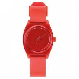 Montre nixon small time teller p translucent coral