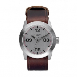 montre nixon private silver brown