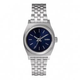 Montre Nixon Small Time Teller - All Silver / Cobalt