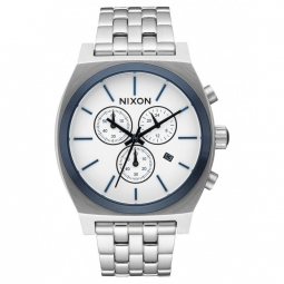 montre nixon time teller chrono white sunray