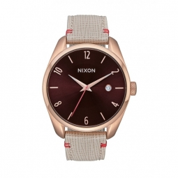 Montre Nixon Bullet Leather - Rose Gold / Brown