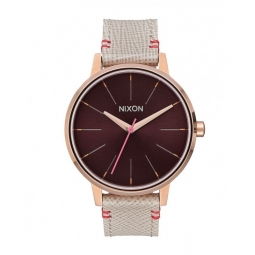Montre Nixon Kensington Leather - Rose Gold / Brown