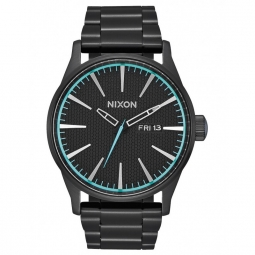 Montres Nixon Sentry SS - All Black / Blue