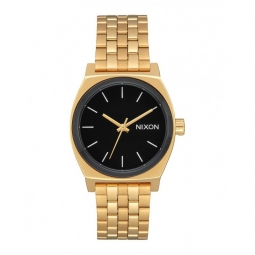 montre nixon medium time teller gold black white