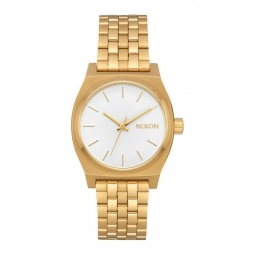 Montre nixon medium time teller all gold white