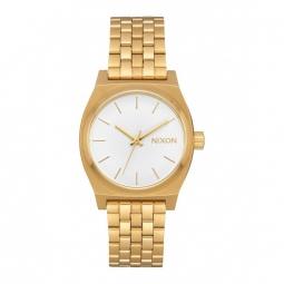 montre nixon medium time teller all gold white