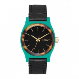 Montre nixon time teller leather green mix