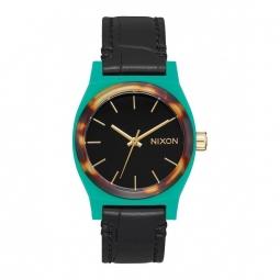Montre Nixon Time Teller - Leather Green / Mix