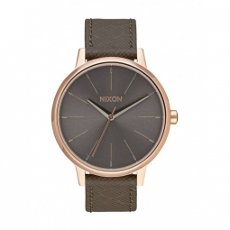 Montre Nixon Kensigton Leather - Rose Gold / Taupe