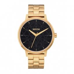 Montre Nixon Kensington - Gold / Black / Stamped