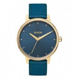 Montre Nixon Kensington Leather - Light Gold / Mallard