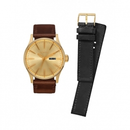 montre nixon sentry pack all gold black brown
