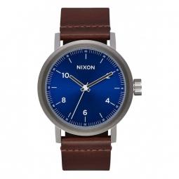 Montre Nixon Stark Leather - Blue Sunray / Brown