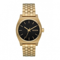 Montre nixon medium time teller light gold black sunray
