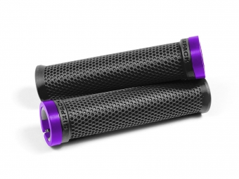 Poignées M-Trix SIXPACK-Racing (Noir / Violet) / Lock-On