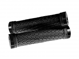Poignées S-Trix SIXPACK-Racing (Noir) / Lock-On