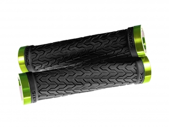 Poignées S-Trix SIXPACK-Racing (Noir / Vert) / Lock-On