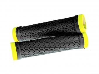 poignees s trix sixpack noires lock on jaune fluo