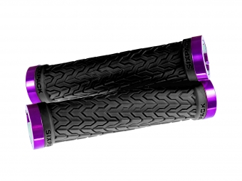 Poignées S-Trix SIXPACK-Racing (Noir / Violet) / Lock-On