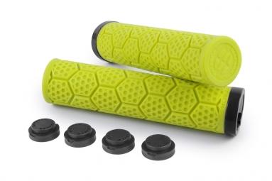 Poignees d trix sixpack jaune fluo lock on noir