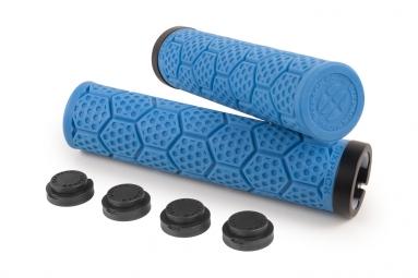 Poignees d trix sixpack bleues lock on noir