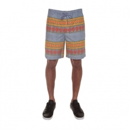 Short Volcom Delator Printed Short - Stormy Blue