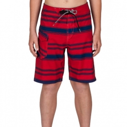 boardshort volcom stone mod stripe candy apple 8 ans