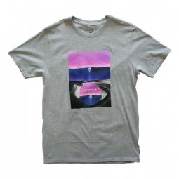 t shirt nixon double vision heather gray s