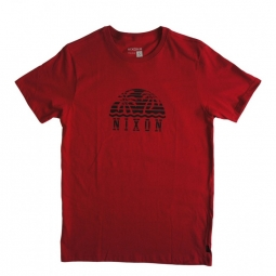 t shirt nixon sunset red xl