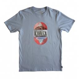 T shirt nixon jupiter light blue s