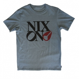T shirt nixon philly too blue heather s