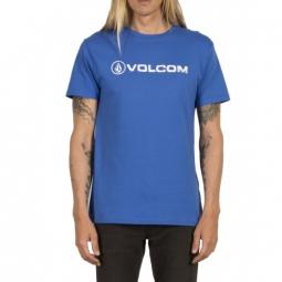 t shirt volcom line euro bsc ss true blue xs