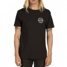 t shirt volcom on lock bsc ss black s