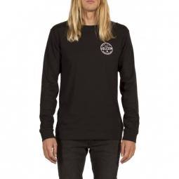 t shirt volcom on lock bsc ls black xs
