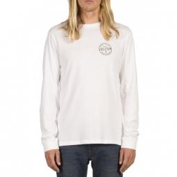 t shirt volcom on lock bsc ls white l