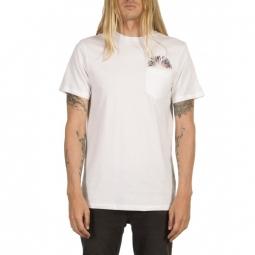 t shirt volcom doom bloom ss pckt t white m