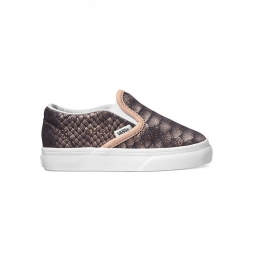 chaussures vans t classic slip on metallic snake 26