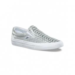 chaussures vans u classic slip on metallic snake true white 36 1 2