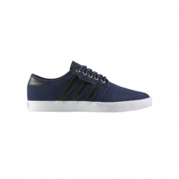 chaussures adidas seeley navy canvas black footwear white 40