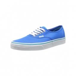 chaussures vans u authentic pop neon blue 36 1 2