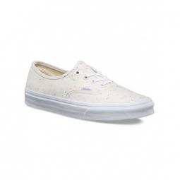 chaussures vans u authentic speckle jersey cream true white 36